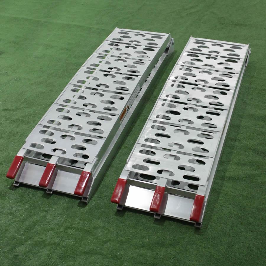 Klappbare Laderampe 226 cm aus Aluminium für Rasentraktoren, ATV usw