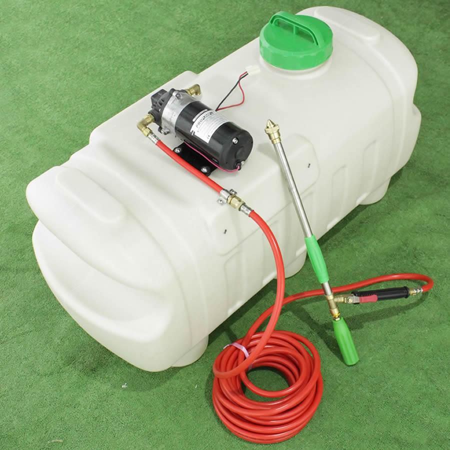 Tank für Spritzanwendungen 100 Liter für Rasentraktor – elektrisch