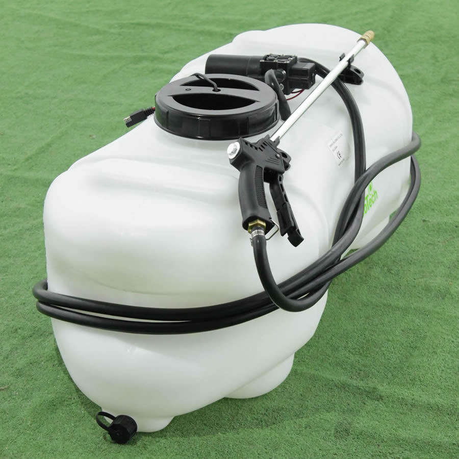 Tank für Spritzanwendungen 60 Lt, Rasentraktoren elektrische Pumpe Batterie 12 V