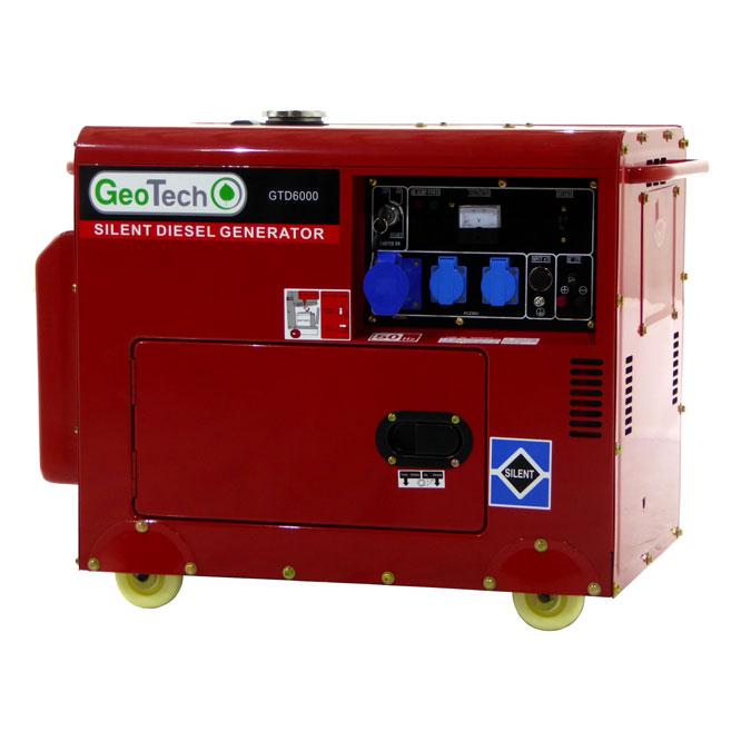 Generatore di corrente diesel silenziato GTD 6000 S