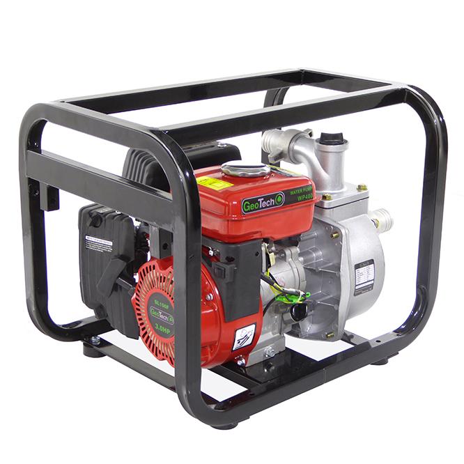 Selbstansaugende Benzinmotorpumpe GeoTech WP400, 40 mm – 1.5″ Anschlüsse – Wasserpumpe