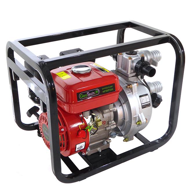 Benzinmotorpumpe GeoTech HPWP500, 2″ – 50 mm Anschlüsse, selbstansaugende Hochdruckwasserpumpe