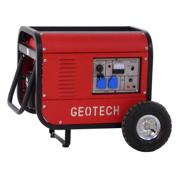 Groupe électrogène 2,5 kw monophasé à essence GeoTech GGSA3000 sur chariot