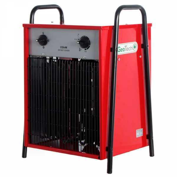 Generatore di aria calda elettrico GeoTech EH 2200 T con ventilatore – 22 KW – trifase