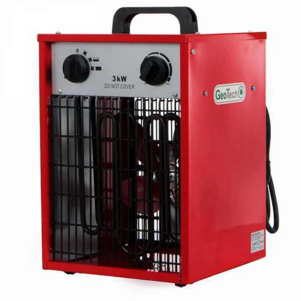 Generatore di aria calda elettrico GeoTech EH 300 S con ventilatore – monofase