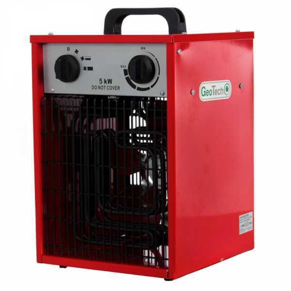 Generatore di aria calda elettrico GeoTech EH 500 T con ventilatore – trifase