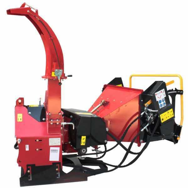 Biotrituratore a trattore GeoTech Pro WS52R. Con rulli di trascinamento a controllo idraulico