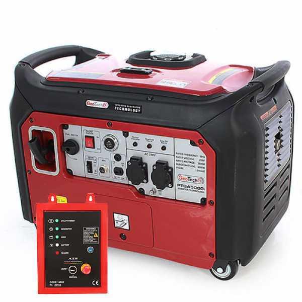 Generatore di corrente inverter 3,5 kW monofase GeoTech PTGA 5000i silenziato con ATS- avv. elettrico