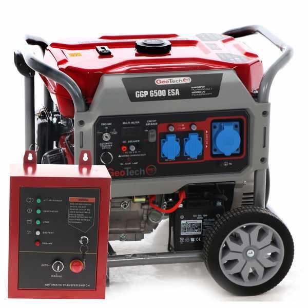 Generatore di corrente 5,0 KW monofase GeoTech PRO GGP 6500 ESA con ATS -avv. elettrico