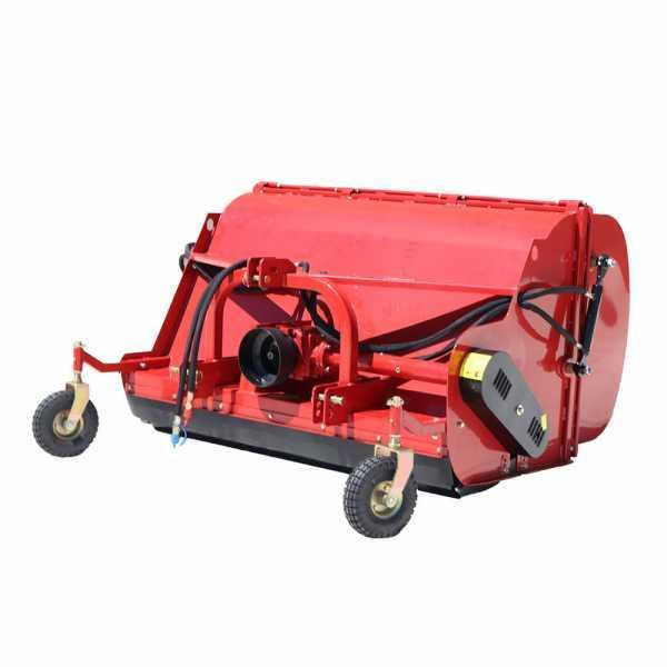 Trinciaerba per trattore con cesto di raccolta GeoTech Pro CFL120 – trincia raccoglitore
