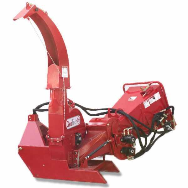 Biocippatore a trattore GeoTech Pro TCP 150-HSF. Biotrituratore con rulli di trascinamento