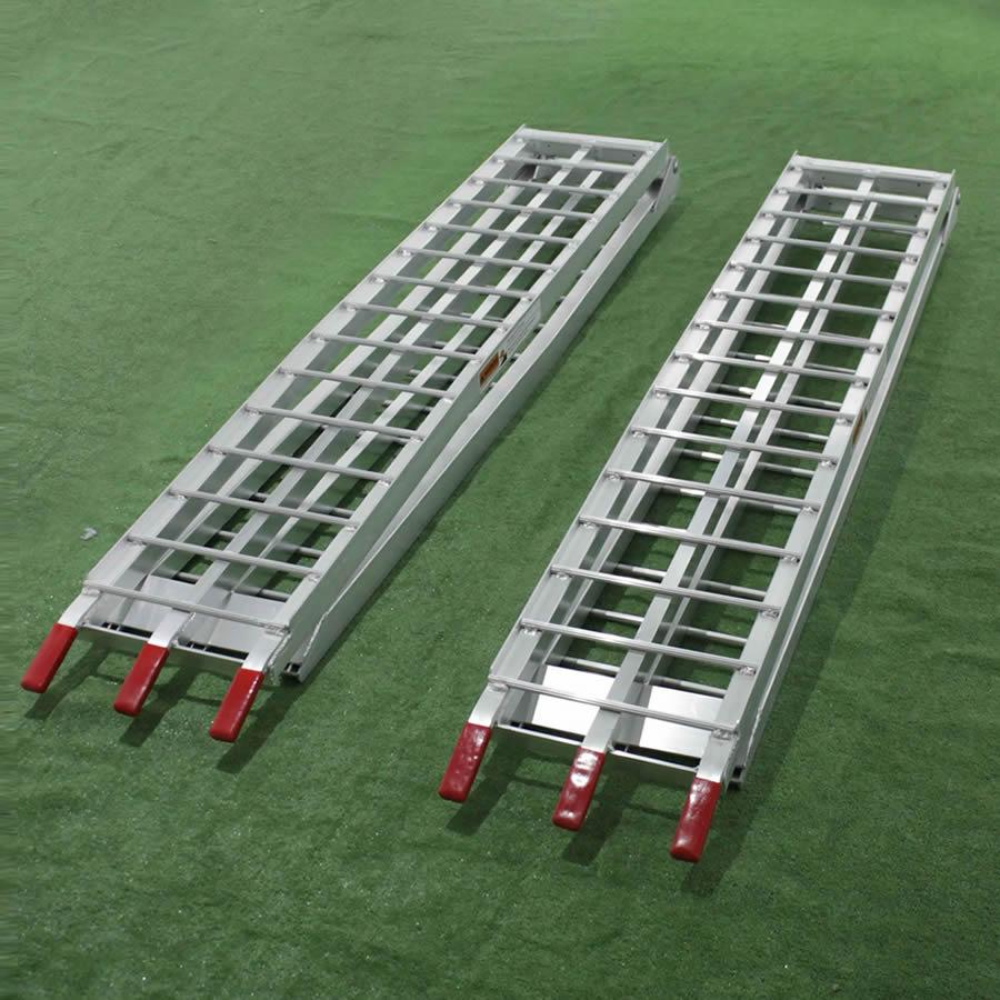 Auffahrrampe (310 cm) aus Aluminium für Rasentraktoren, ATV usw