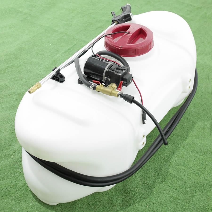 Botticella per irrorazione e diserbo da 60 lt per trattorino pompa elettrica a batteria 12 volts