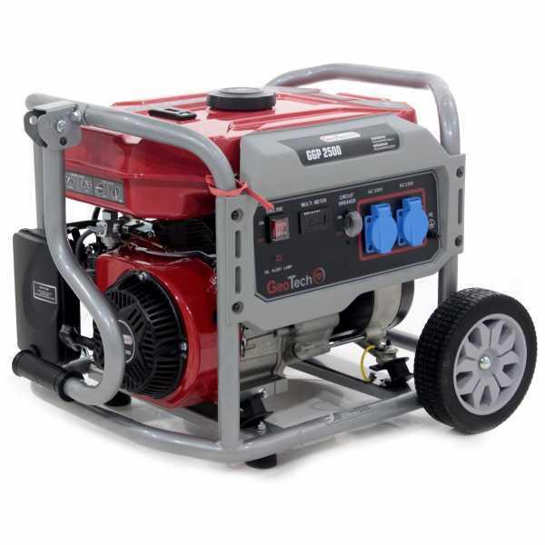 Generatore di corrente 2,0 KW monofase a benzina GeoTech Pro GGP 2500 – carrellato