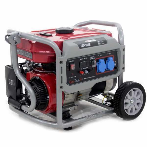 Generatore di corrente 2,8 KW monofase a benzina GeoTech Pro GGP 3500 – carrellato