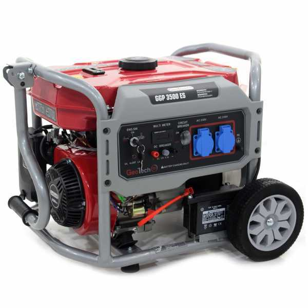 Generatore di corrente 2,8 KW monofase GeoTech Pro GGP 3500 ES carrellato – avv. elettrico