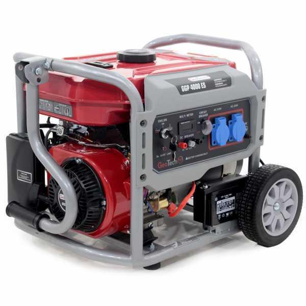 Generatore di corrente 3,2 KW monofase GeoTech Pro GGP 4000 ES carrellato – avv. elettrico