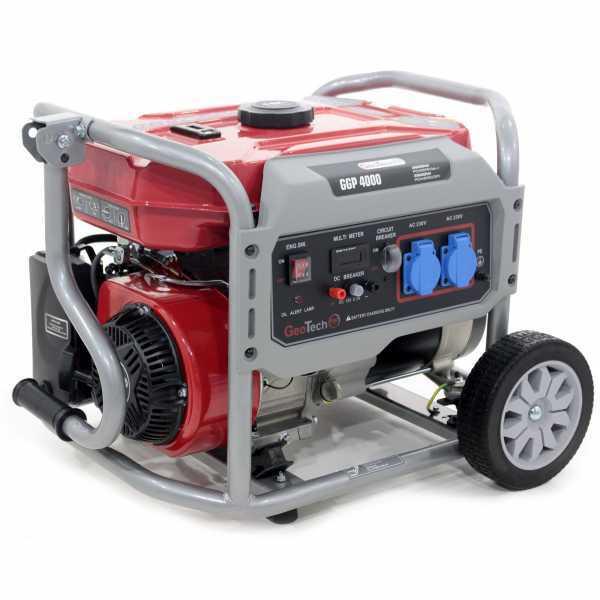 Generatore di corrente 3,2 KW monofase a benzina GeoTech Pro GGP 4000 – carrellato