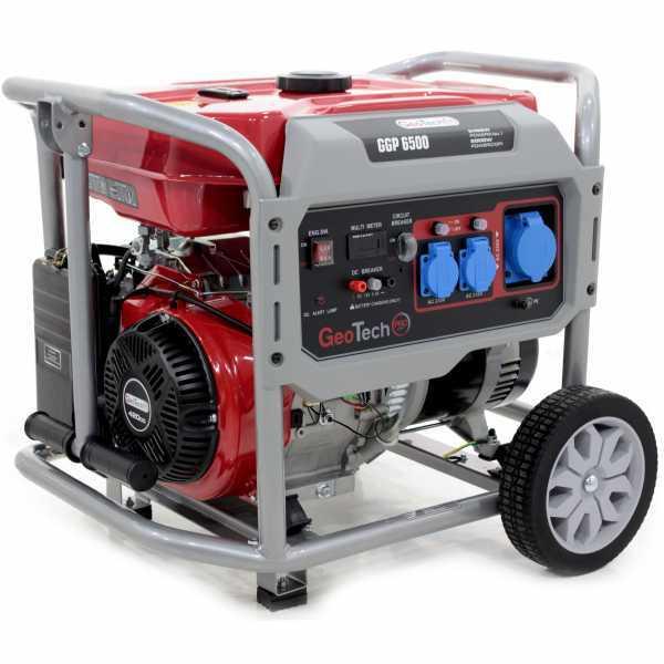 Generatore di corrente 5,0 KW monofase a benzina GeoTech Pro GGP 6500 – carrellato