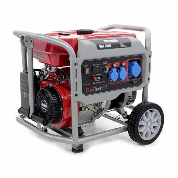 Generatore di corrente 6,0 KW monofase a benzina GeoTech Pro GGP 8000 – carrellato
