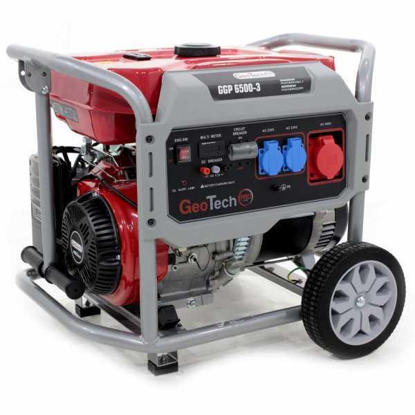 Generatore di corrente 5,0 KW trifase a benzina GeoTech Pro GGP 6500-3 – carrellato