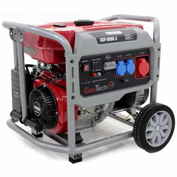 Generatore di corrente 6,0 KW trifase a benzina GeoTech Pro GGP 8000-3 – carrellato