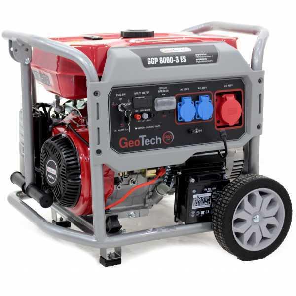 Generatore di corrente 6,0 KW trifase GeoTech Pro GGP 8000-3 ES carrellato, avv. elettrico