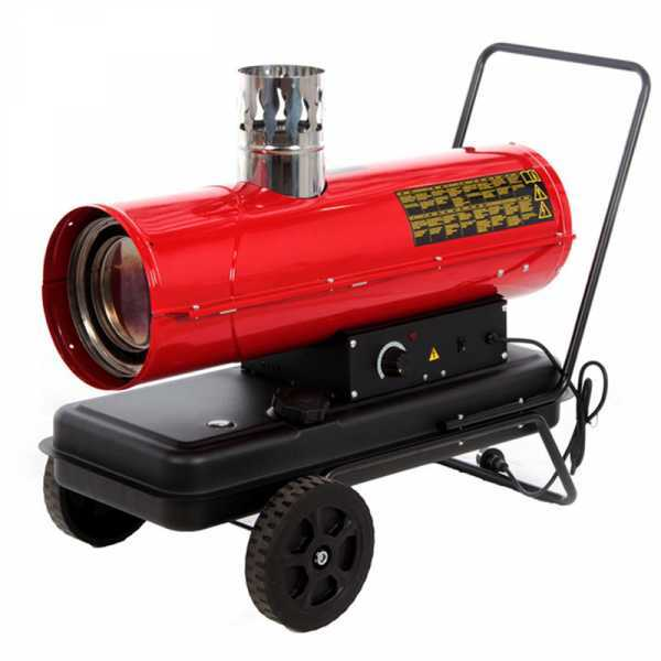 Generatore di aria calda diesel GeoTech IDH 2000 – a riscaldamento indiretto – carrellato