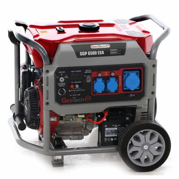 Generatore di corrente 5,0 KW monofase GeoTech PRO GGP 6500 ESA carrellato -avv. elettrico