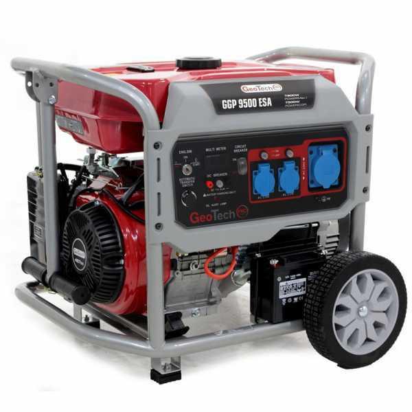 Generatore di corrente 7,5 KW monofase GeoTech PRO GGP 9500 ESA carrellato – avv. elettrico