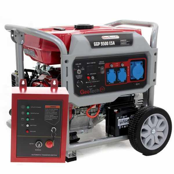 Generatore di corrente 7,5 KW monofase GeoTech PRO GGP 9500 ESA con ATS – avv. elettrico