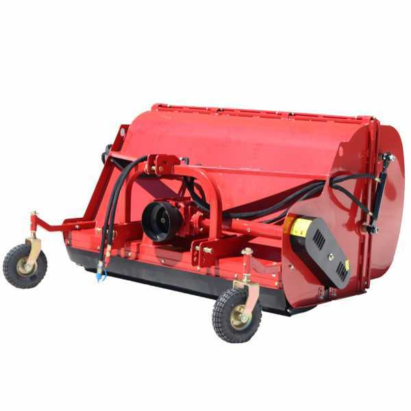 Trinciaerba per trattore con cesto di raccolta GeoTech Pro CFL160 – trincia raccoglitore