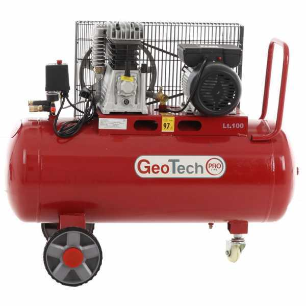 Compressore aria elettrico a cinghia Geotech BACP100-10-3 motore 3 HP – 100 lt – 10 bar