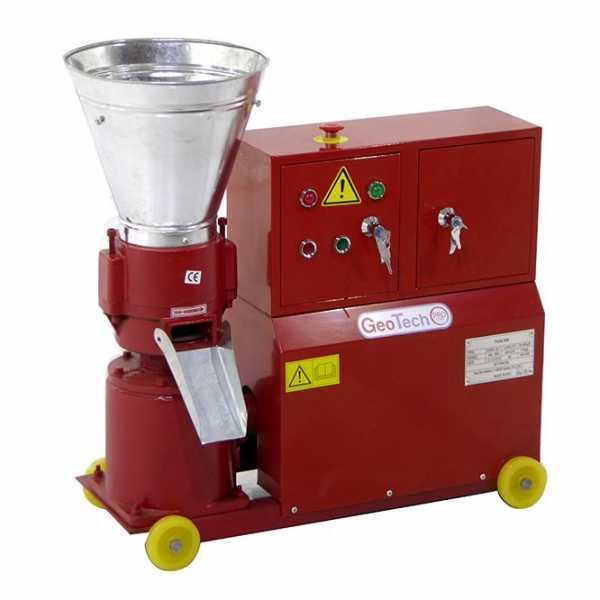 Pellettatrice Trifase Hp 5,3 GeoTech – produzione in casa del pellet da riscaldamento