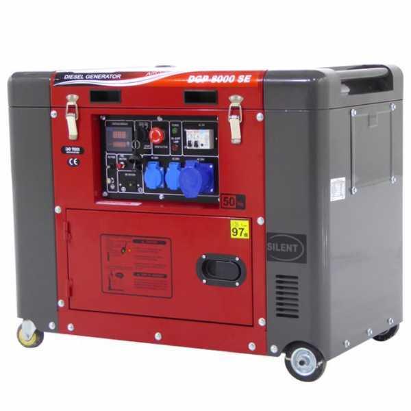 Generatore di corrente 5,5 kW monofase diesel GeoTech Pro DGP8000SE silenziato