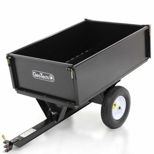 Carrello ribaltabile per trattorino in metallo GeoTech 750 LB cassone cm 107×70 (h 34 cm)